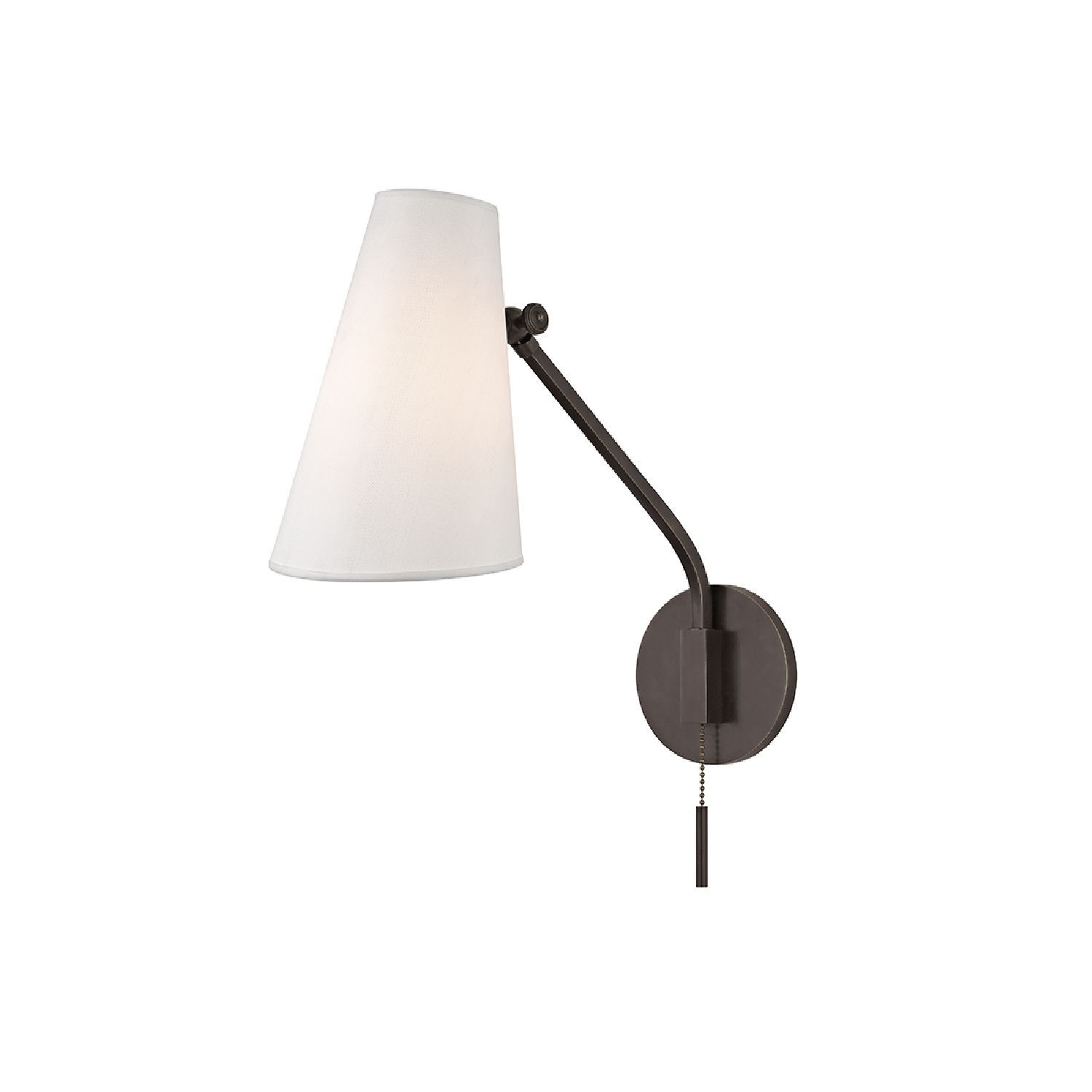 The Patten Swing Arm Wall Sconce comes in an old bronze finish and a ...