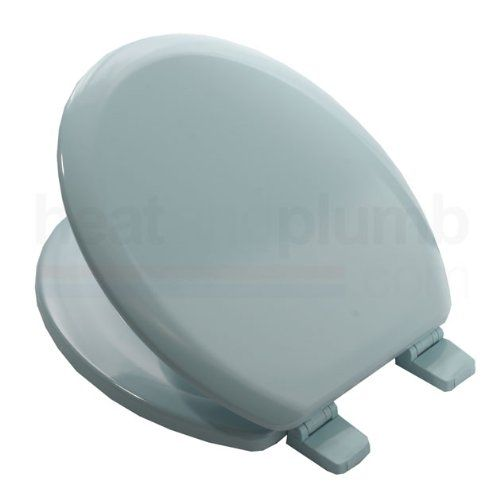 Bemis 5000 SKY BLUE Coloured Moulded Wood Toilet Seat and Cover ...