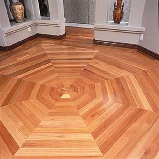 Painted Hardwood Floor with Wood Trim | DIY Flooring | Pinterest ...