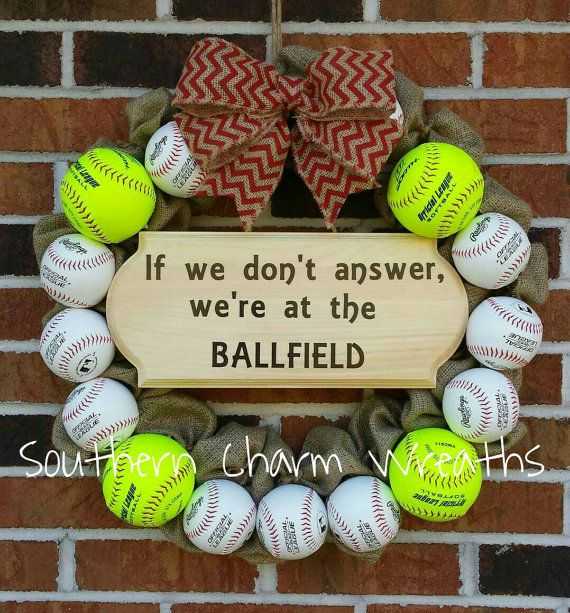 Softball Baseball If we don't answer we're at by southcharmwreaths