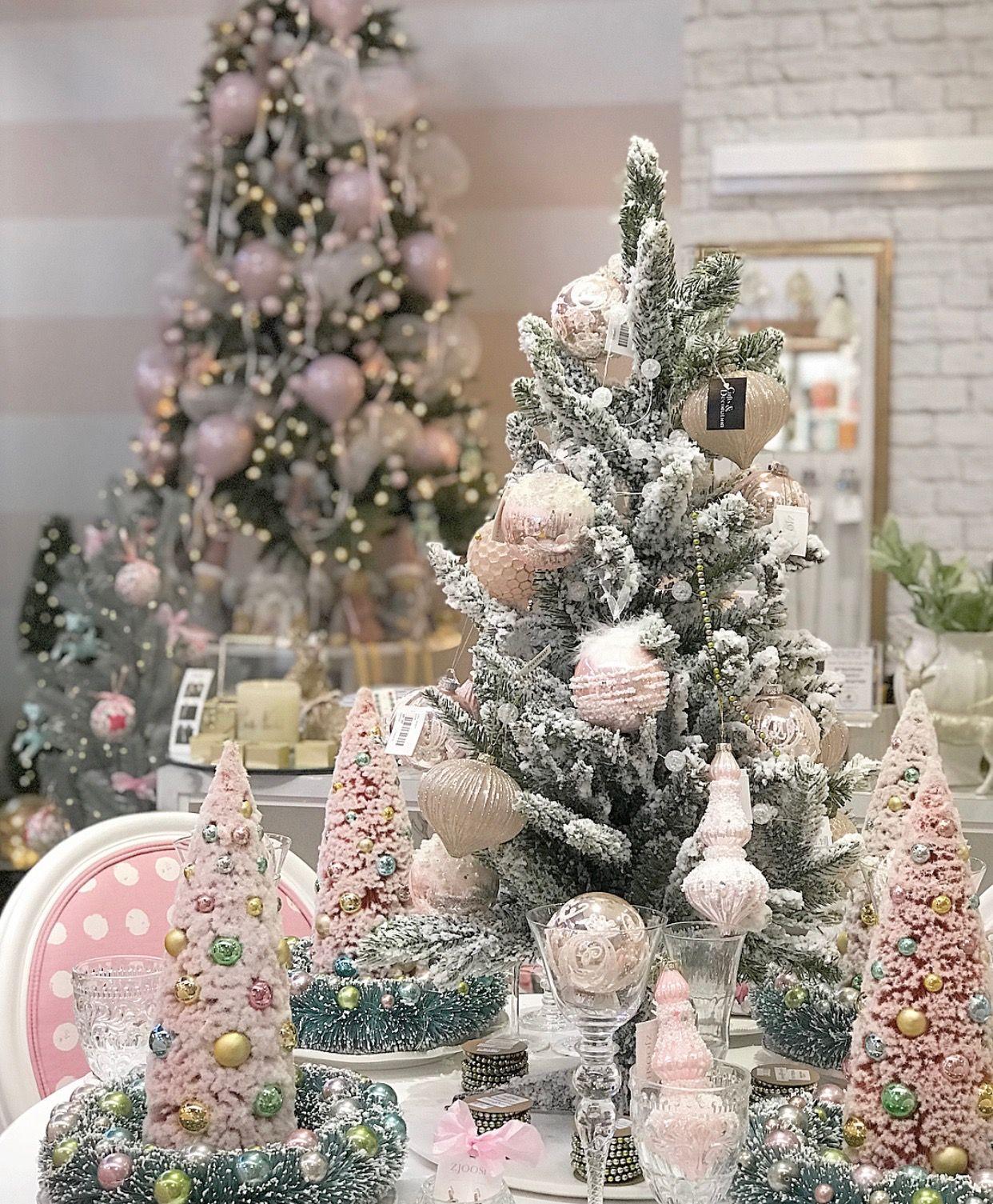 White Christmas Christmas Decor Pink Christmas Ideas