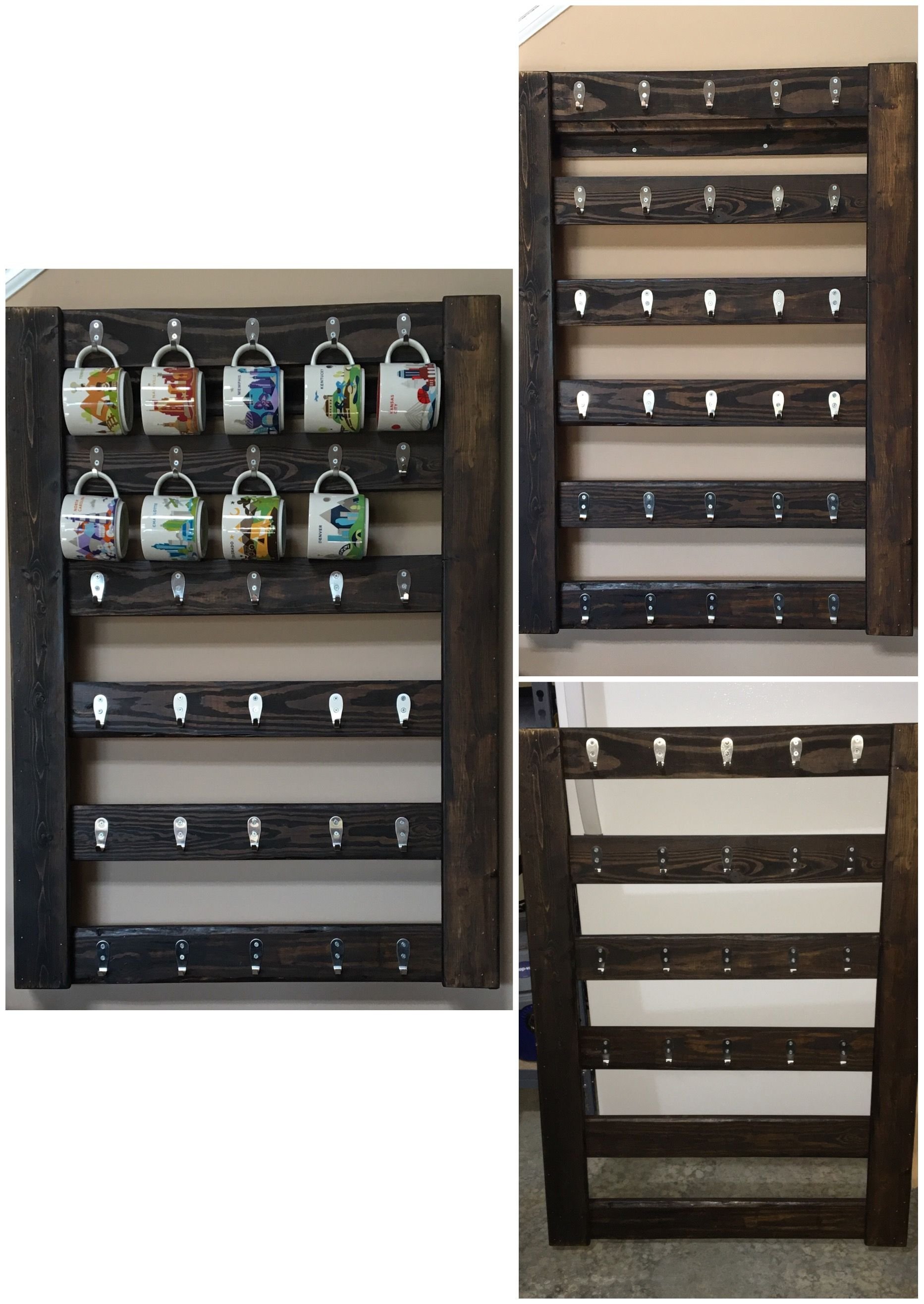 The Coffee Mug Display I Built To Show Off My Collection Of Starbucks You Are Here Cups Plan Get A From Every Trip Take Until Is