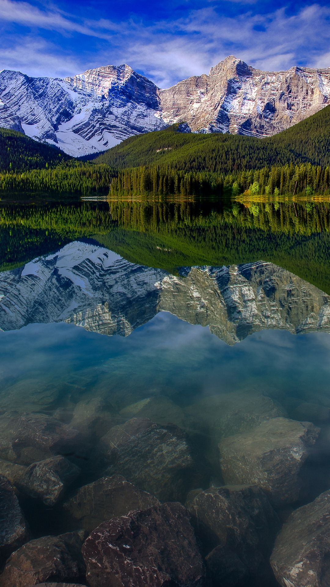 Mountain Landscape Reflection Mountains Lake Rocks Iphone 6 Plus Wallpaper Iphone Wallpaper Landscape Scenery Mountain Landscape Hd wallpaper lake ice mountains valley