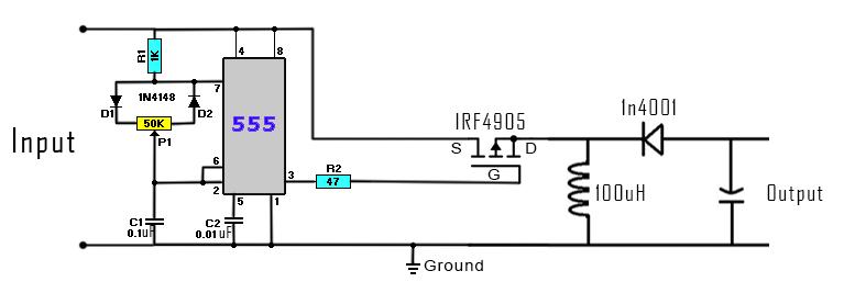 DC to DC buck-boost converter circuit homemade | การสอน