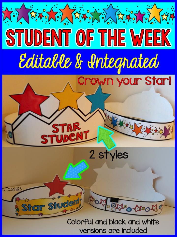 editable  u0026 integrated  star student
