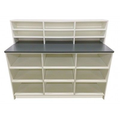Open storage pharmacy unit - made to measure pharmacy fittings - choose your exact size/colour and let us design the perfect pharmacy display for you.  #pharmacycounter #pharmacydisplay #pharmacycupboard #pharmacyunit