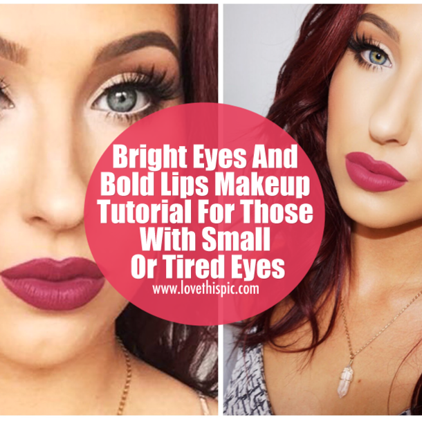 Bright Eyes And Bold Lips Makeup Tutorial For Those With