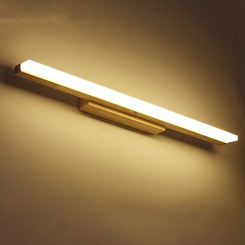 SJUN Japan Stil Aus Holz Wandleuchte Führte Quelle, Anti Fog Bad Spiegel  Lampe