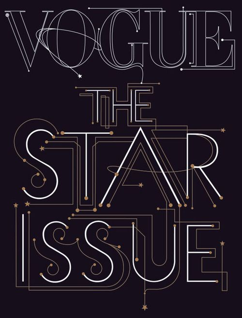 VOGUE THE STAR ISSUE TYPOGRAPHY DECORATIVE GEOMETRIC SPACE