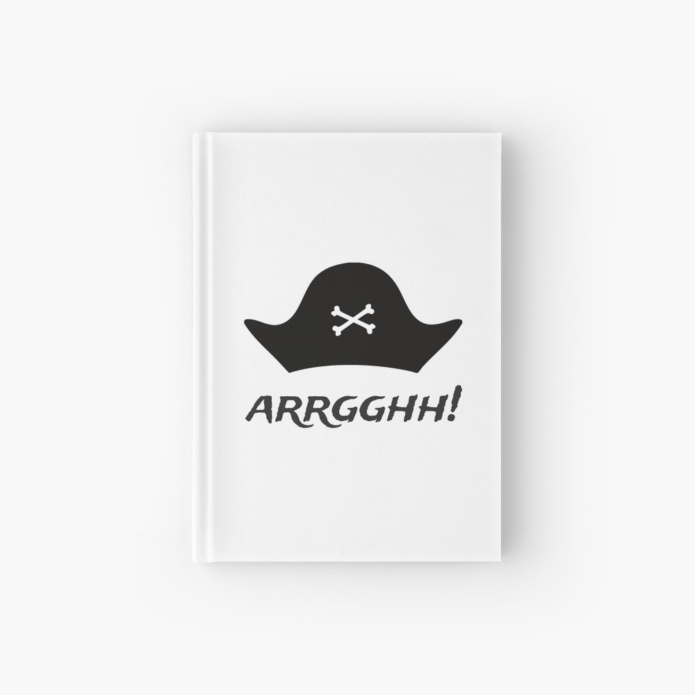 Pirate Hat Argh Light Hardcover Journal By Oceanys Hardcover Journals Pirate Hats Nautical Stationery