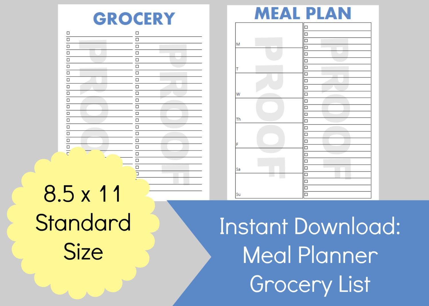 New To Commandcenter On Etsy Meal Planner Grocery List Meal