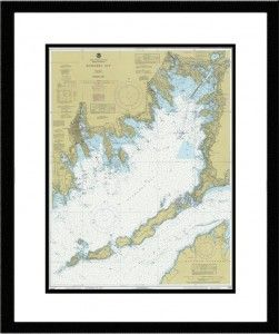 Framed nautical chart new beach deco pinterest nautical style