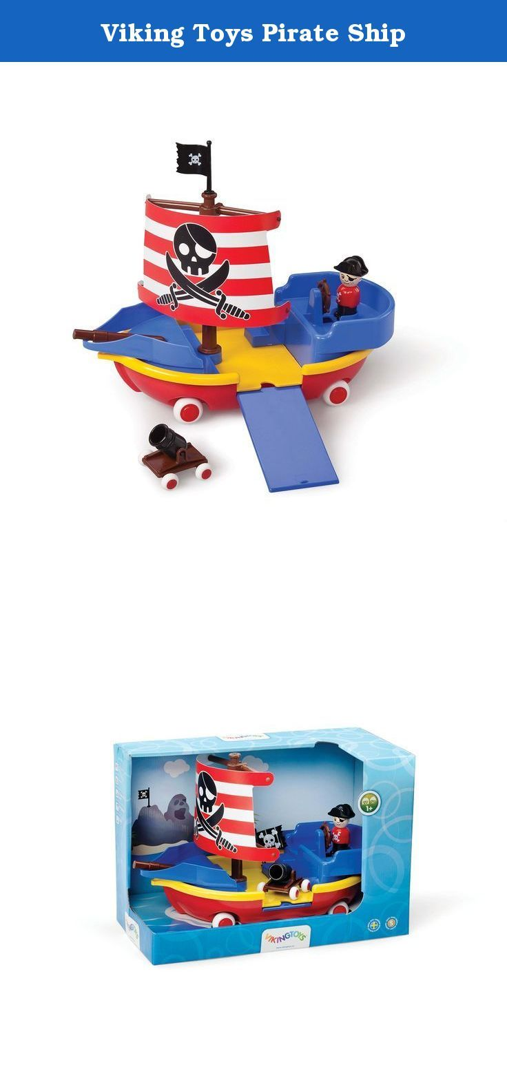 Viking Toys Pirate Ship. Includes Pirate, flag and cannon. Plank ...