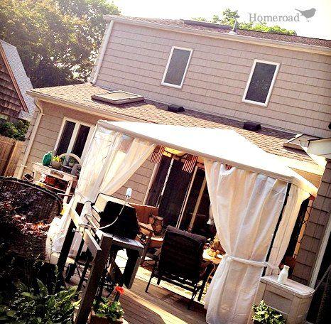 Homeroad-DIY Outdoor Canopy Curtains & Homeroad-DIY Outdoor Canopy Curtains | Go Outside!! | Pinterest ...