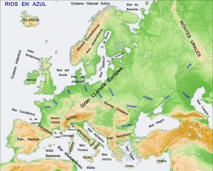 Mar Baltico Mapa Fisico.Mapa Fisico Europa Busca De Google Studio