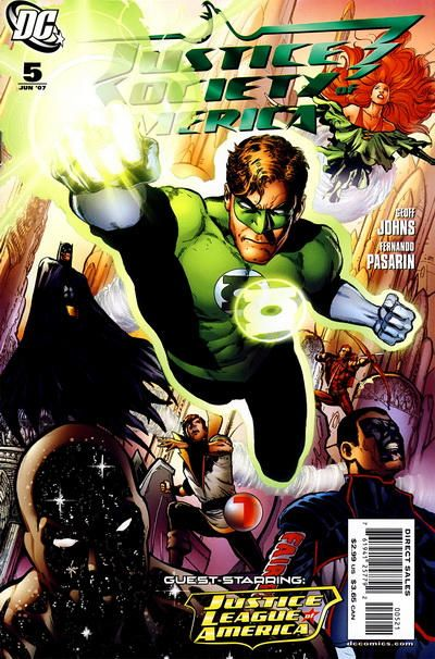 Justice Society of America No. 5 cover by Phil Jimenez and Rod Reis THE LIGHTNING SAGA