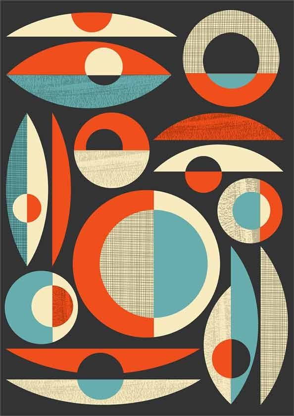 Mid Century Modern Print Mid Century Poster Print Modern Print Abstract Art Poster Mid Century Modern Modernist Retro Composition A Via Etsy