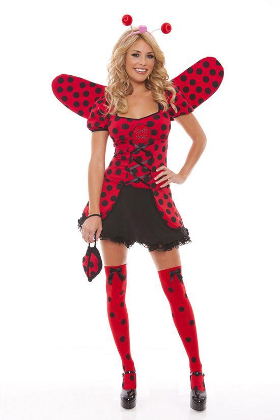 Lady Bug Halloween Costume - Light Up four piece costume set - black skirt halloween costume ideas