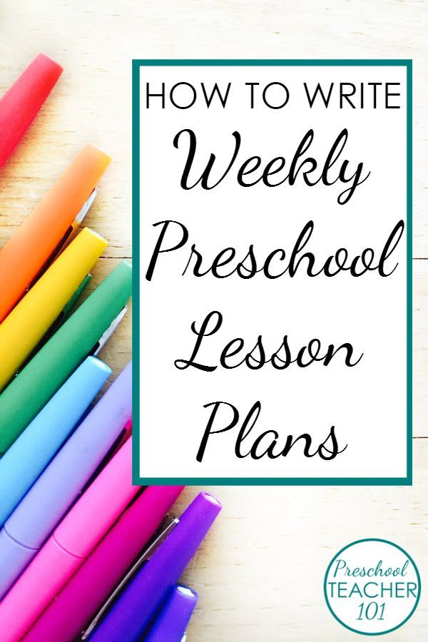 How To Write Weekly Preschool Plans  Includes A Free Editable