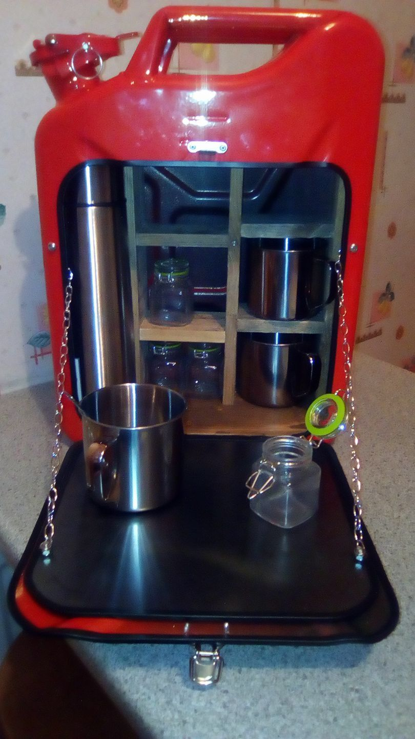 Coffee tea #jerry can bar /mini bar/ #camping/ stag / man cave ...
