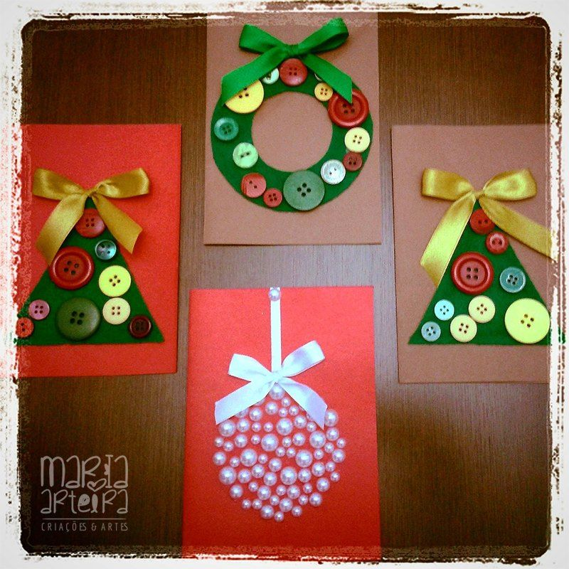 Cartões de Natal em Papel Cartão e acessórios!!