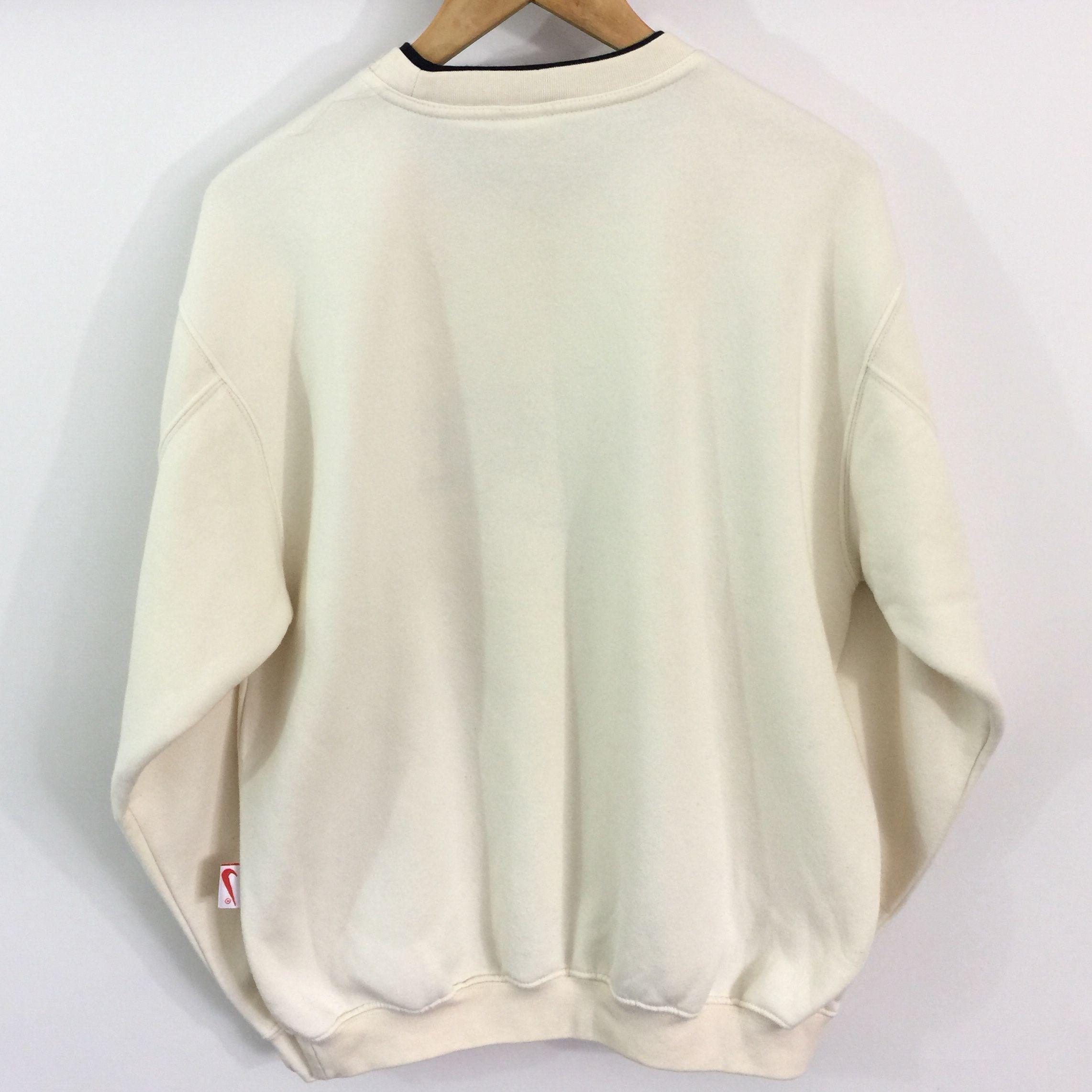 Vintage Nike Sweatshirt Label Size Medium Cream Depop Vintage Nike Sweatshirt Vintage Hoodies Sweatshirts [ 2283 x 2283 Pixel ]