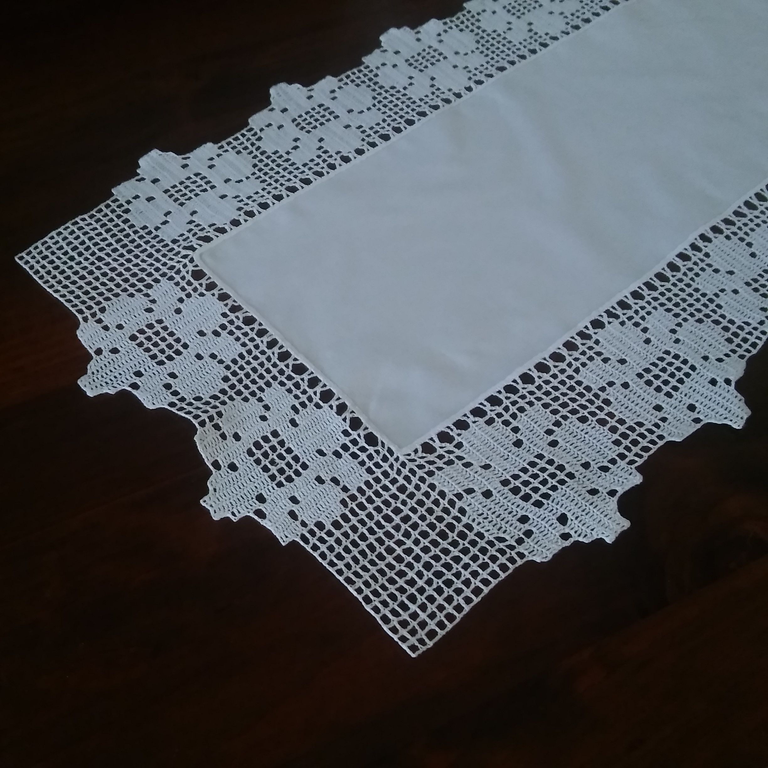 Crochet Table Runner Wedding Table Runner White Table Runner Small