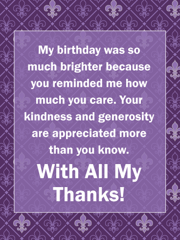 Feeling Loved And Appreciated Thank You Cards For Birthday Wishes Birthday Greeting Cards By Davia Thank You Messages For Birthday Birthday Wishes Reply Thank You For Birthday Wishes