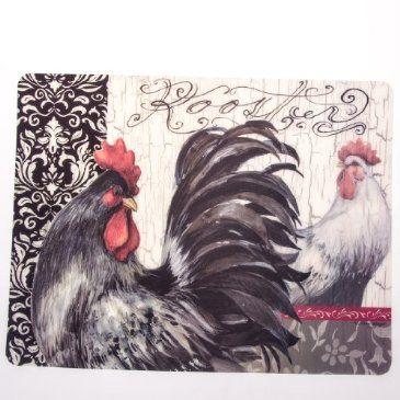 Black Rooster Flex Mat Black Rooster Rooster Rooster Kitchen Decor