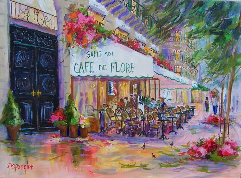French Paintings / Cafe_de_Flore Art, Paris painting
