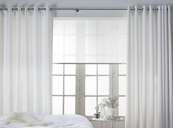 Geplooide gordijnen aan ringen living room pinterest bedroom