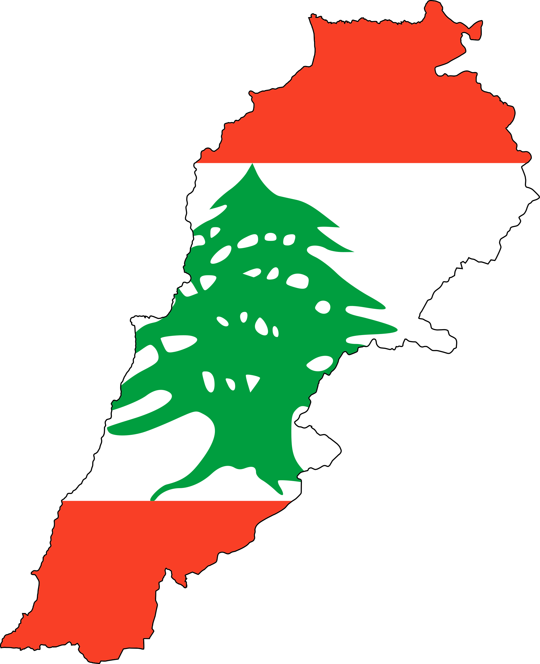 Lebanon Flag Map Lebanon Officially Known As The Lebanese - Lebanon map