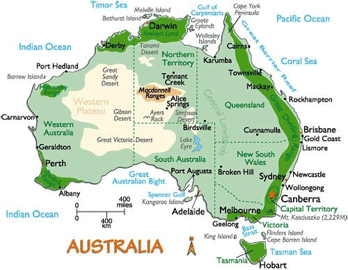 Interesting Facts About Australia Australia Map Facts About