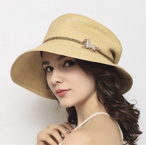 8a6d03d4fc8147 Womens best hats for sun protection horse decoration of straw sun hat UV  Womens best hats