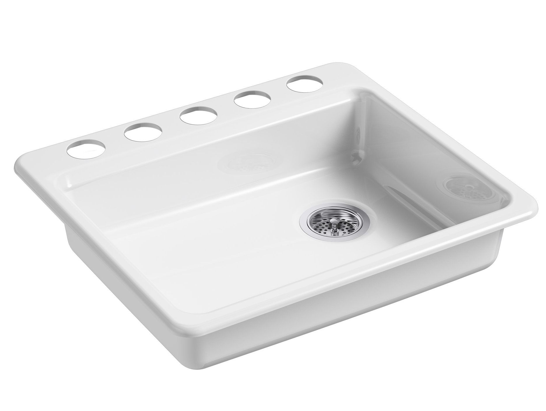 "Riverby 25"" x 22"" Undermount Single Bowl Kitchen Sink"