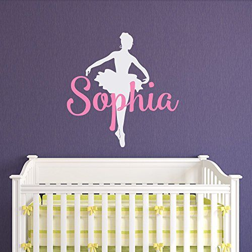 Ballerina Wall Decals Vinyl Sticker Girls Name Personalized Custom - Custom vinyl wall decals dance