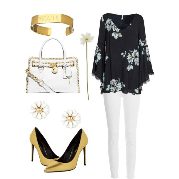 Just Breathe by stacinelsoncole on Polyvore featuring polyvore, fashion, style, Free People, Paige Denim, Yves Saint Laurent, Michael Kors, Allison Daniel and Linea