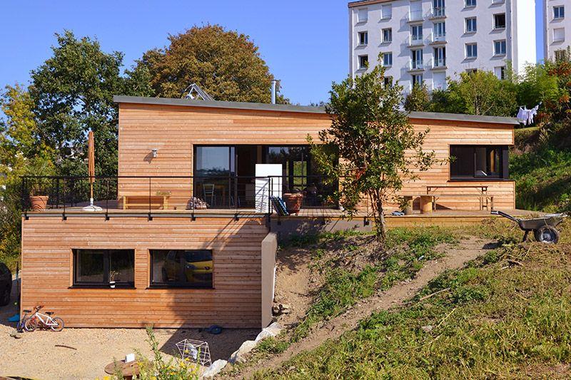 3A-Architecte - Construction neuve -maison L Morlaix Maison en - construction maison terrain en pente