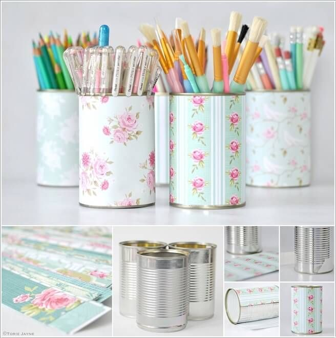 10 Cool Diy Pencil Holders For You To Make Dollar Store Crafts