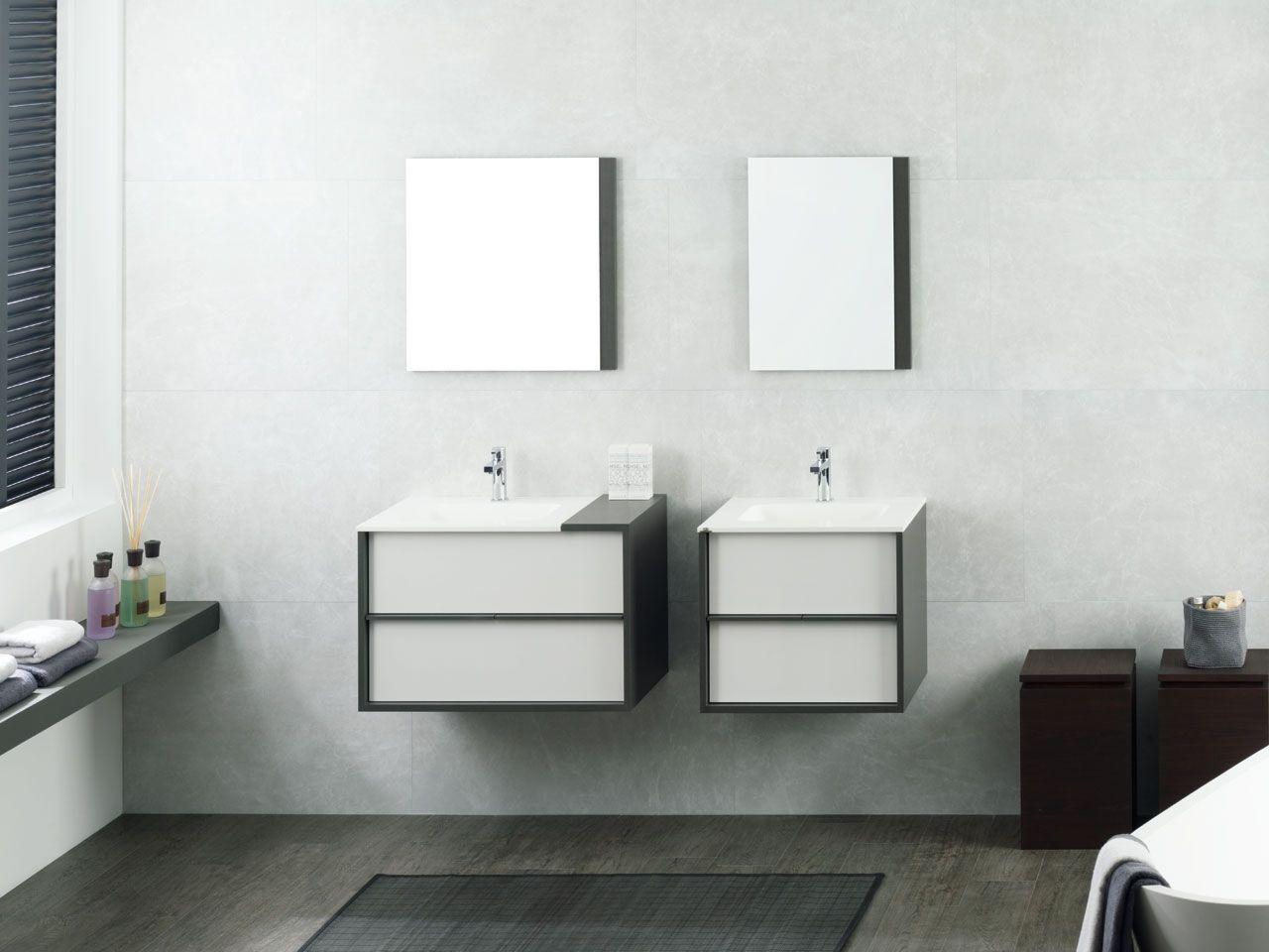 Porcelanosa Meuble De Salle De Bain meuble de bains folk lino / blanco brillo | bathroom vanity