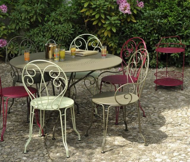 shabby chic gartenm bel metallrahmen ornamente fermob montmartre terrassen balkon. Black Bedroom Furniture Sets. Home Design Ideas