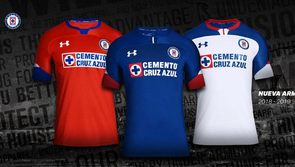 a2e9aa71406 jerseys-cruz-azul-under-armour-2018-19-h   Football (soccer ...