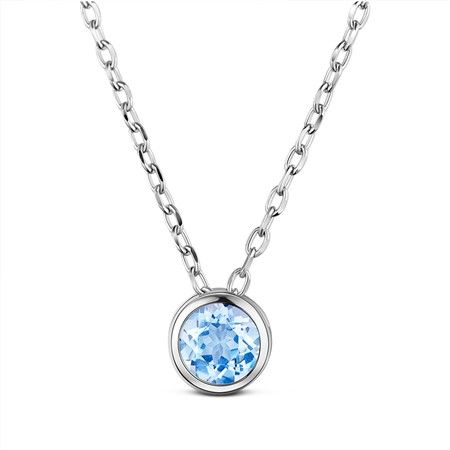 Sparkling Blue Topaz Necklace