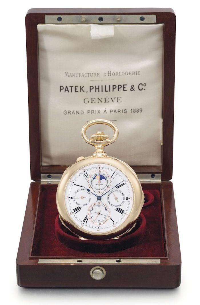3fe9a141d27 Primeiro relógio de bolso grande complicação por Patek Philippe ...