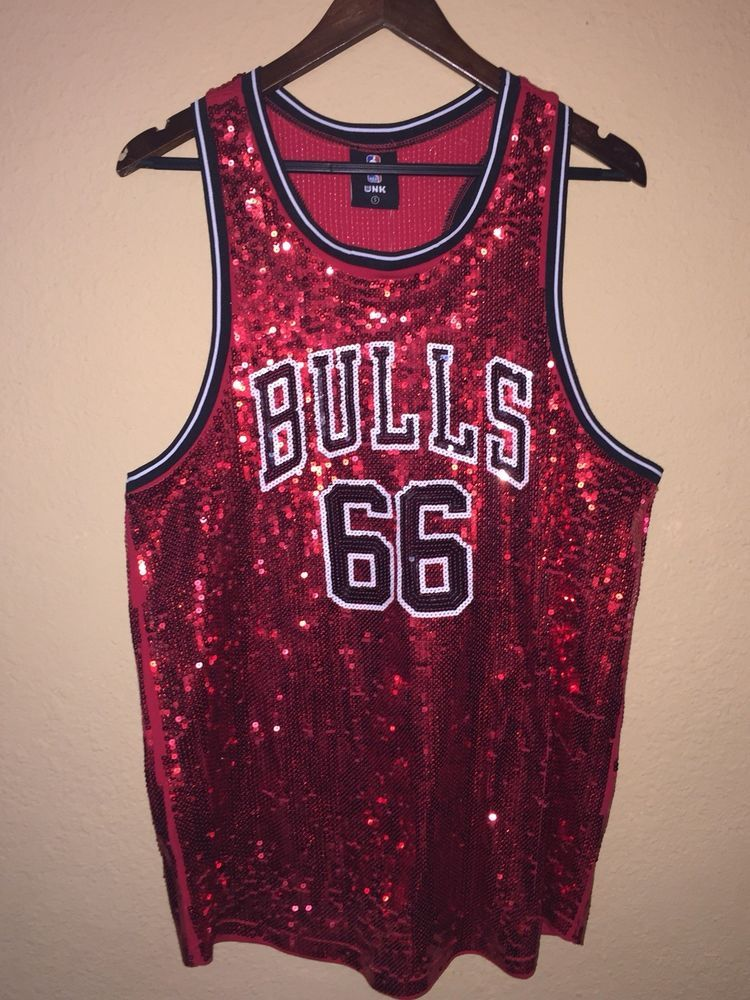 new style d6db4 5d6fd Brand New Authentic Sequined Chicago Bulls Jersey Dress ...