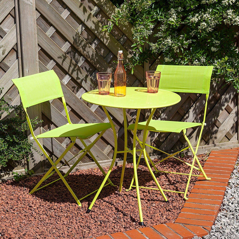 af278f2ac80f Alfresia Marbella Round Aluminium Folding Bistro Set - Green: Amazon.co.uk:  Garden & Outdoors