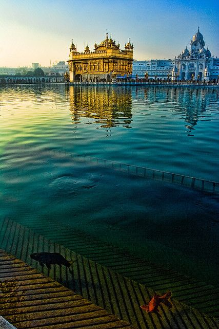 Golden temple, Amritsar (Sri Harmandir Sahib) - build with four doors to show that people of all religions are welcome