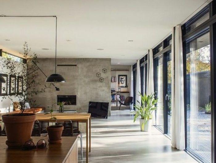 1001 Idees Pour Amenager Une Chambre En Longueur Des Solutions Petits Espaces Interieurs En Beton Decoration Beton Comment Amenager Une Chambre