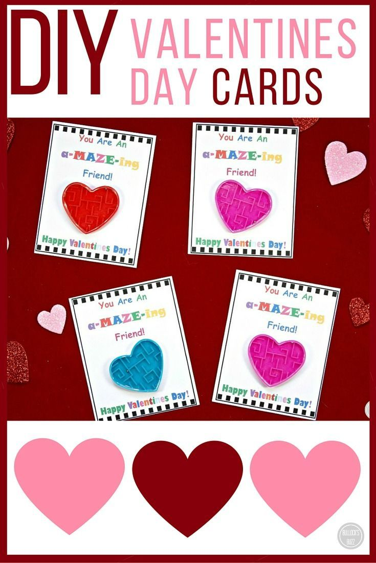Diy Valentine S Day Cards For Kids With Free Printable Free Cards