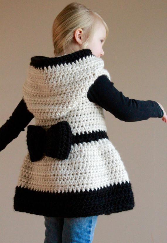 Crochet Pattern – Deryn Sweater, PDF Instant Download, Sizes 18-24mo, 2T/3T, 4T/5T